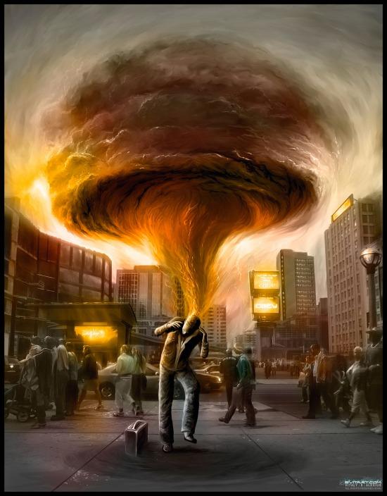 Brain Storm, digital painting by Alexiuss1